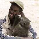 A Man and his Baboon by kimwild