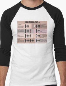 Biblical Marriage Men's Baseball ¾ T-Shirt