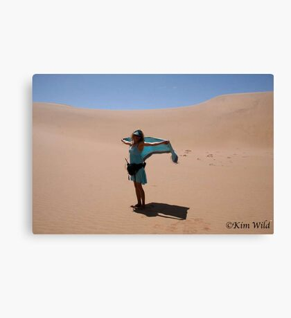 Carla on the Dune! Canvas Print