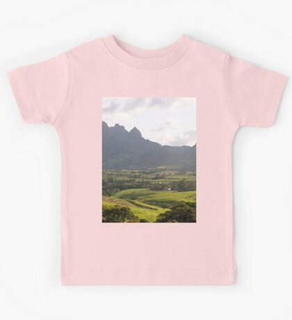 a colourful Equatorial Guinea landscape Kids Tee