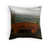 Baldy's Valley View Throw Pillow