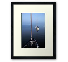 Tranquil moorings, Coll Framed Print