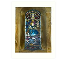 Window #4 - East Witton Church Art Print
