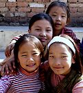 Children From the Tibet Refugee Camp by Betsy  Seeton