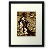 Zig Zag Wood Fence Framed Print
