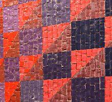 Segment of Glass Tiled Artwork by ElyseFradkin