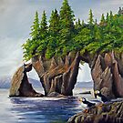 Puffin Pair - Three Hole Point by Rich Summers