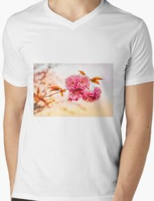 """""""Spring Blossoms"""" Mens V-Neck T-Shirt"""