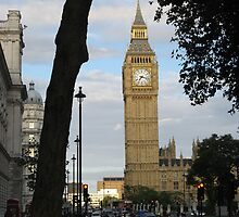 Big Ben Through the Tree by ValeriesGallery