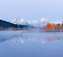 Before the Rise, Oxbow Bend, Grand Teton National Park, Wyoming by Alan C Williams