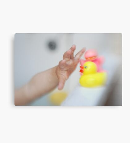 Lydia and Ducky Canvas Print