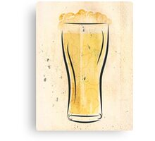 Stylized Beer Canvas Print