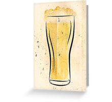 Stylized Beer Greeting Card