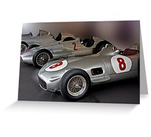 Silver Arrows Greeting Card