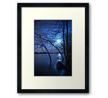 """""""Spooky Moon"""" Framed Print"""