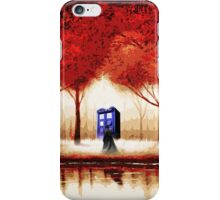 Red Tardis Cloud iPhone Case/Skin