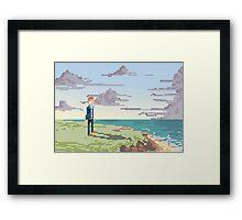 Pixel Suit Framed Print