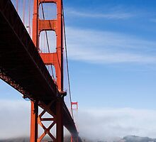 Golden Gate Bridge from below by Sue Leonard