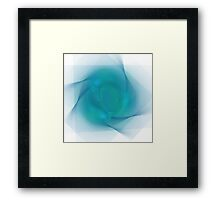 APO No. 14 Turquoise Swirl Framed Print