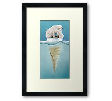 polar ice cream cap 02 Framed Print