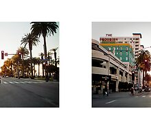 Ocean Avenue + Santa Monica Boulevard, Santa Monica, California, USA...narrowed. by David Yoon