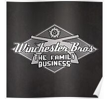 Winchester Bros Crossed Colts (Full Steel Grey) Poster