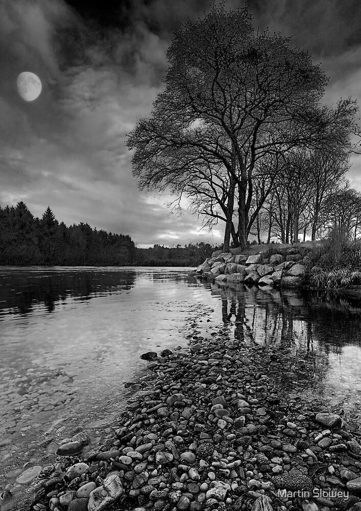Moon over Royal Deeside by Martin Slowey