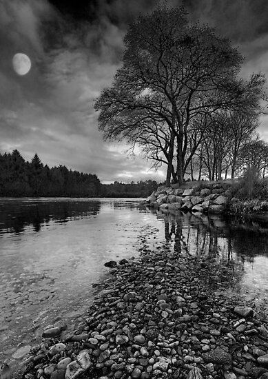 Moon over Royal Deeside by Martin Slowey