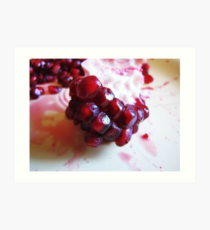 Edible Garnets Art Print