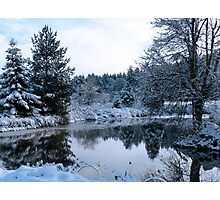 snowy pond Photographic Print