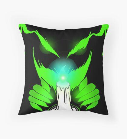 The Green Eyed Monster Throw Pillow