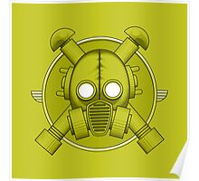 Art Deco Gasmask Combat Green Poster