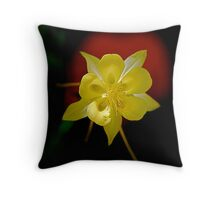 Yellow Columbine Throw Pillow