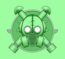 Art Deco Gasmask Green by Rustyoldtown