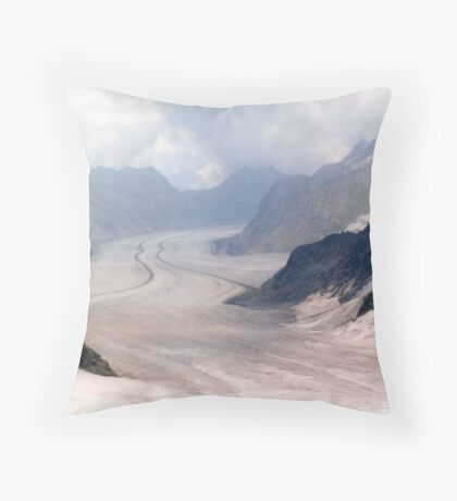 Glacial Moraines - Jungfrau, Switzerland Throw Pillow