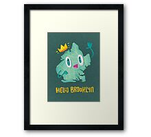 Hello Brooklyn Framed Print