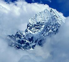 Himalayas Jutting Through the Sky by Betsy  Seeton
