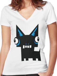 Kweezy Women's Fitted V-Neck T-Shirt
