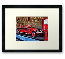 Antique Fire Truck Engine #3 Framed Print