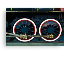 Locomotive Wheels Canvas Print