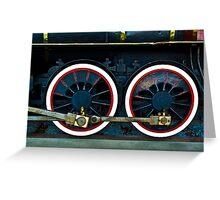Locomotive Wheels Greeting Card