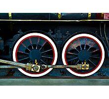 Locomotive Wheels Photographic Print