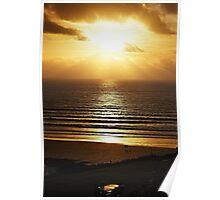 Sunset Beach Stroll Poster