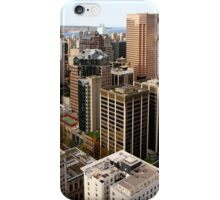 Downtown Skyscrapers from Harbour Tower, Vancouver City, Canada  iPhone Case/Skin