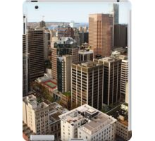 Downtown Skyscrapers from Harbour Tower, Vancouver City, Canada  iPad Case/Skin