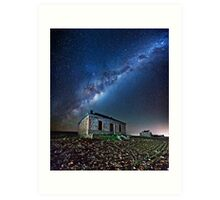 Burra North Ruin and Galaxy Art Print