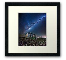 Burra North Ruin and Galaxy Framed Print