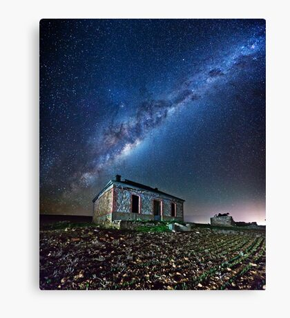 Burra North Ruin and Galaxy Canvas Print