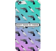 Don't Touch My Phone Emoji Phone Case iPhone Case/Skin