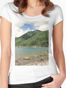 a desolate Dominica landscape Women's Fitted Scoop T-Shirt
